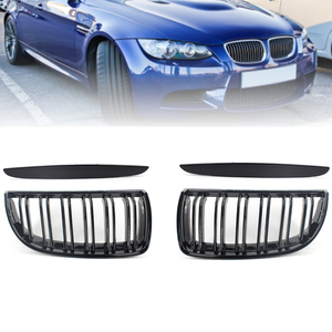 Car Front Grille Matte Black Racing Grills Replacement Grill Kidney Hood For BMW E90 E91 318 320i 325i Auto Intake Grille