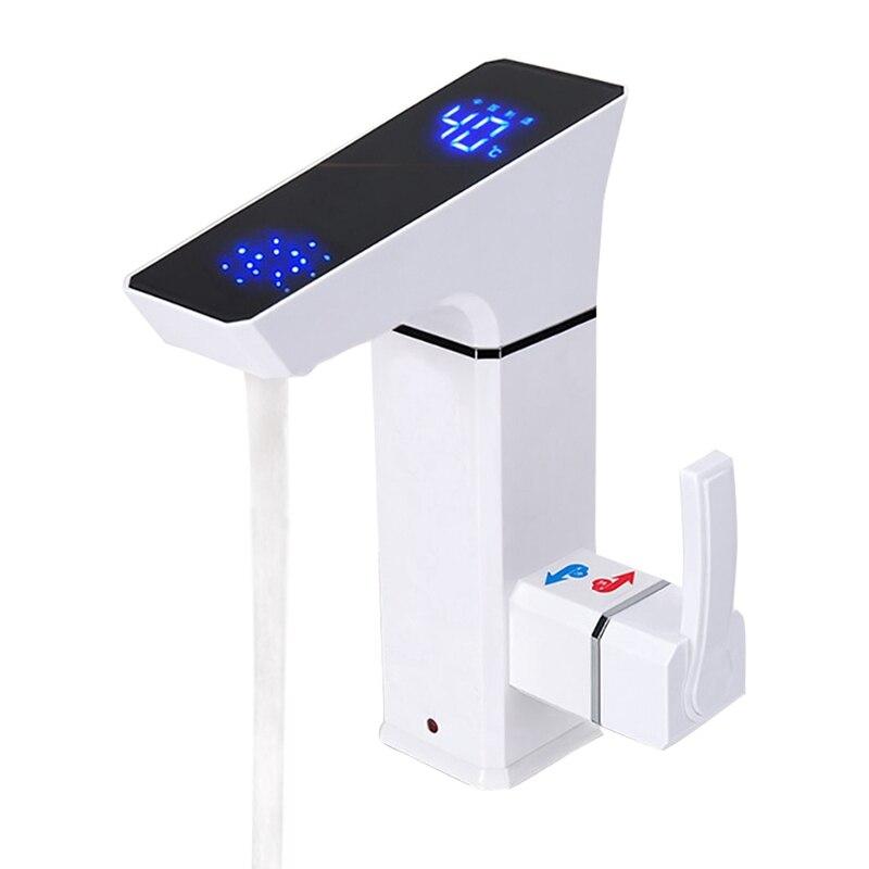 Nouveau Design 3000W LED affichage température instantanée sans réservoir robinet chaud cuisine douche électrique robinet chauffe-eau robinet chaud chauffe-eau
