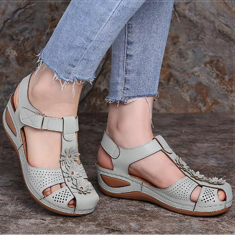 Women Sandals Plus Size 44 Wedges Shoes Woman Heels Sandals Chaussures Femme Soft Bottom Platform Sandals Gladiator Sandalias
