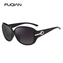 FUQIAN Classic Oval Polarized Women Sunglasses Vintage Oversized Female Sun Glasses Big Round Sunglass Oculos UV400