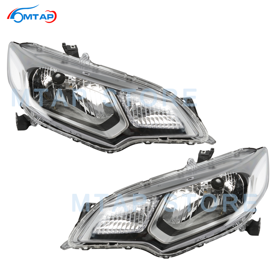 MTAP Front Bumper Head Light Lamp For <font><b>Honda</b></font> For Jazz <font><b>Fit</b></font> <font><b>GK5</b></font> 2015 2016 2017 2018 2019 Headlamp <font><b>Headlight</b></font> Assy Halogen image