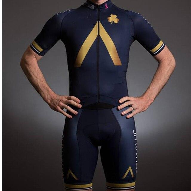 Azul do aqua 2020 triathlon men pro equipe camisa skinsuit ciclismo tri terno do esporte da bicicleta conjunto corpo roupas mtb pele terno 1