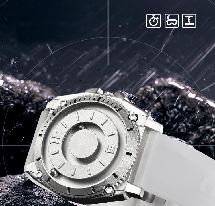H864ef21152db427daf090f9e7ae8d6c8e Eutour magnetic watch parallel time and space black technology men's couple wristwatch women's wristwatch personality gel wristb