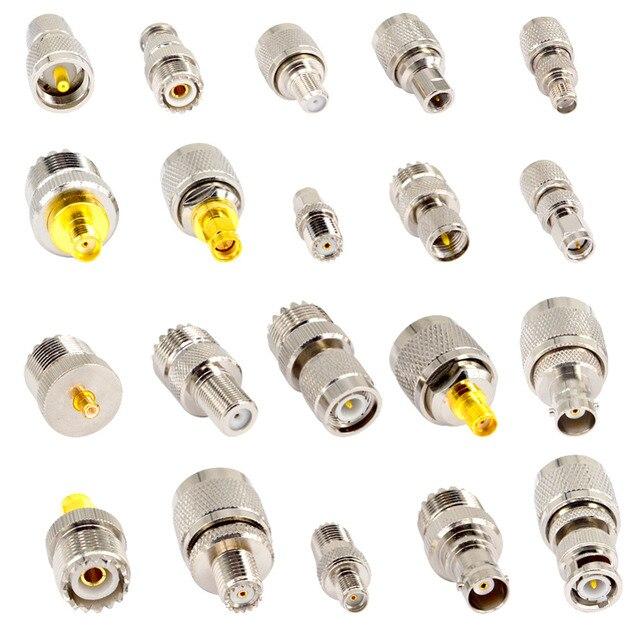 20 Kits dadaptateur UHF PL259 couvrent le connecteur UHF à SMA connecteur UHF à BNC/TNC/F convertisseur de Test plaqué or Nickel droit