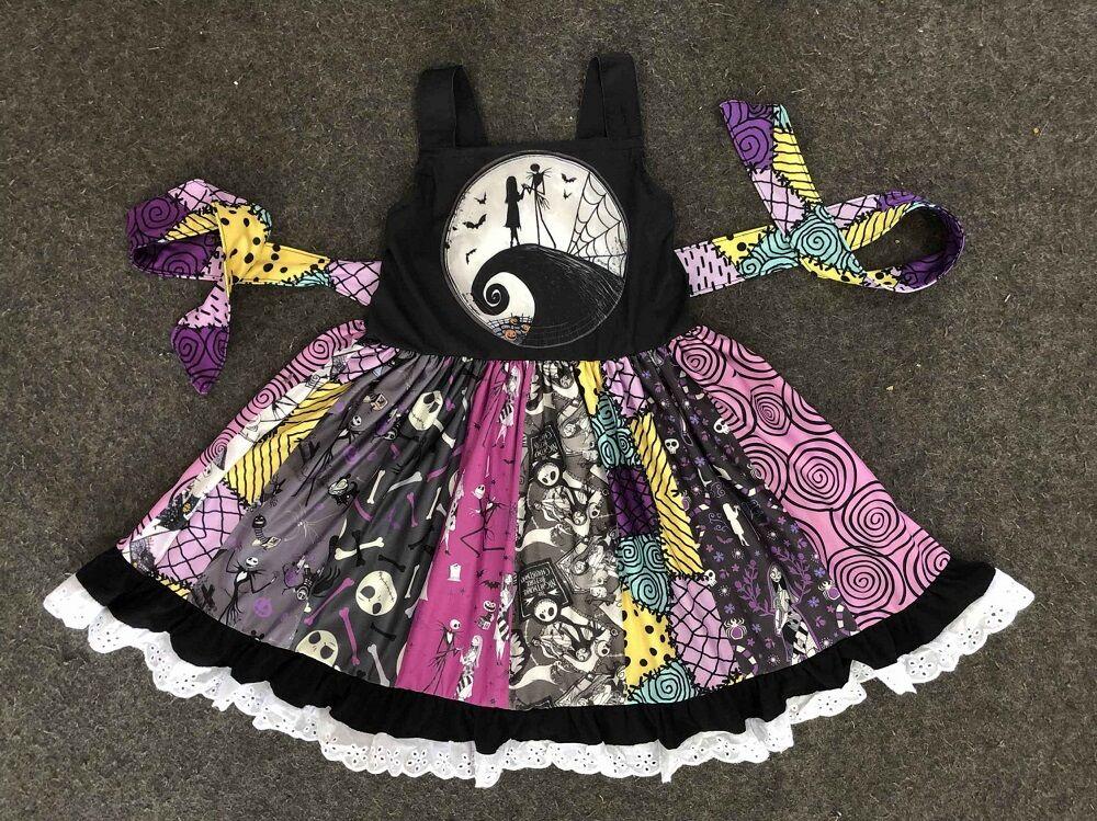 Модная одежда для маленьких девочек; Детское платье «Кошмар перед Рождеством»; Детское вечернее платье-пачка принцессы; Оптовая продажа