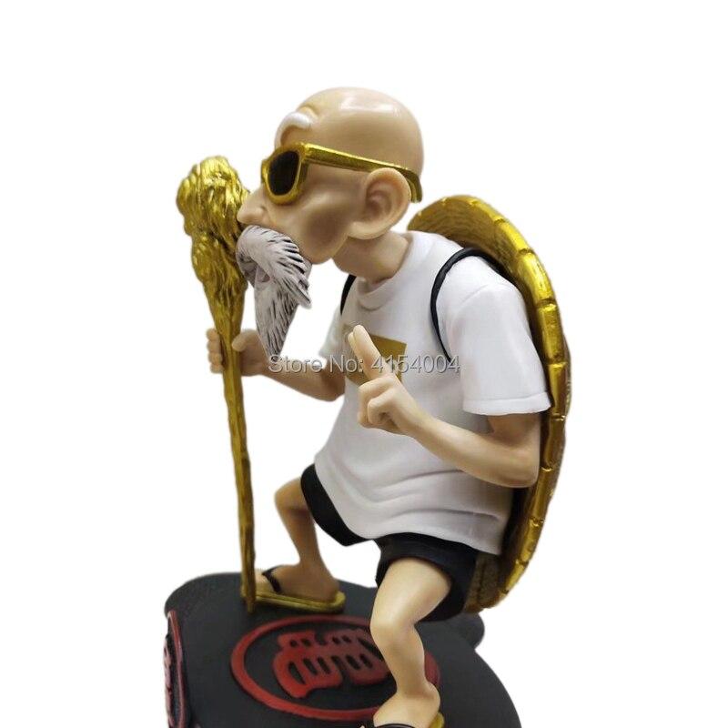 Image 4 - Animation Dragon Ball Z Kame Sennin Gold Plating Master Roshi Resin Scenes Statue Action Figure Collection Model ToyAction & Toy Figures   -