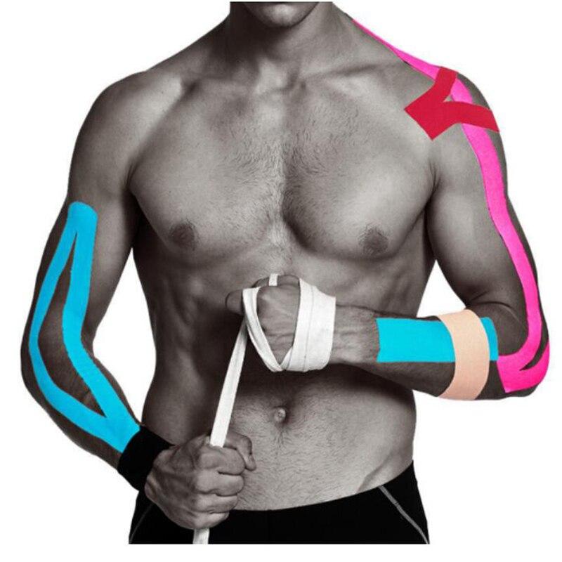 Кинезиологическая лента Атлетическая эластичная лента для снятия мышечной боли, наколенники для поддержки спортивного зала, фитнес-бандаж