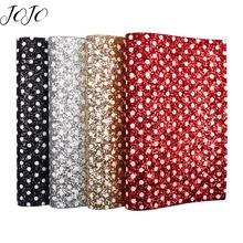 JOJO BOWS 22*30cm 4pcs Chunky Glitter Fabric For Craft Dot Solid Sheet For Needlework Apparel Sewing DIY Hair Bow Bag Making цена