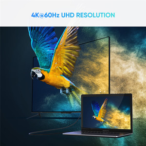 Image 4 - Кабель Ugreen USB C HDMI Type C HDMI Thunderbolt 3, конвертер для MacBook iPad Pro 2018, адаптер USB Type C HDMI