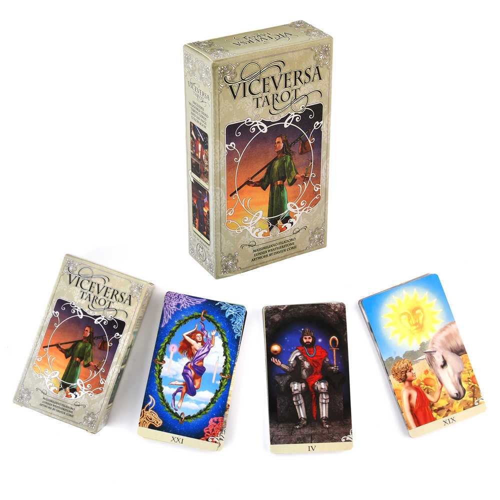 Vice Versa Tarot Kit Kaarten Dek En Guidebook Kaart Fate Waarzeggerij Game Tarot Dek Voor Party Holiday Gift Board Games