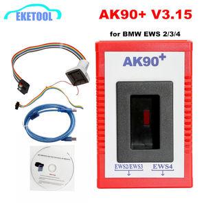 Image 1 - 2020 AK90 + مفتاح مبرمج لسيارات BMW EWS2/3/4 مفتاح رمز القارئ V3.19 أحدث إصدار AK90 مفتاح صانع لأداة البرمجة BMW
