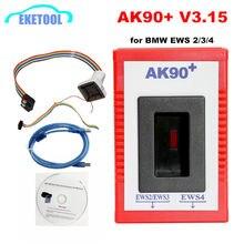 2020 AK90 + Key Programmeur Voor Bmw EWS2/3/4 Key Code Reader V3.19 Nieuwste Versie AK90 Sleutel Maker Voor bmw Programmering Tool