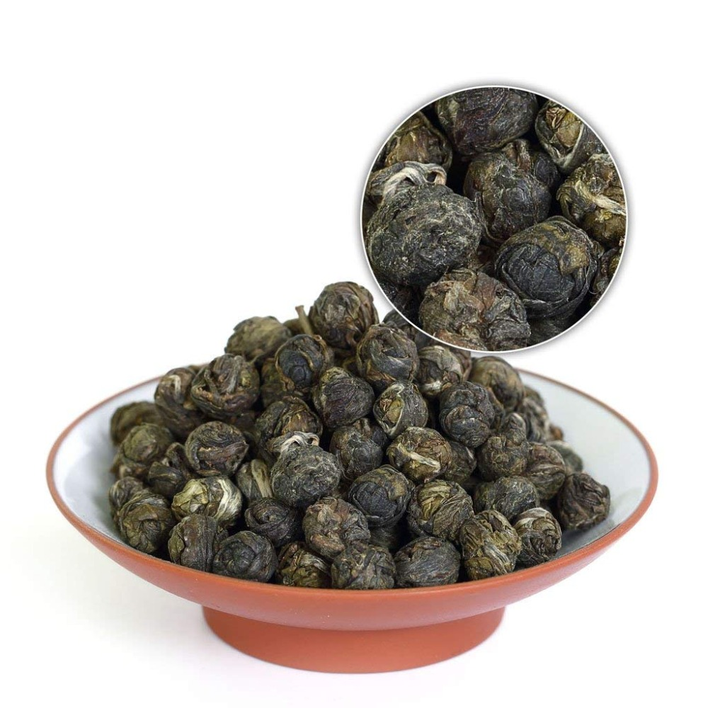 Jasmine Green Tea Jasmine Pearl Tea Organic Handmade Jasmine Dragon Pearl Slimming Tea GD43