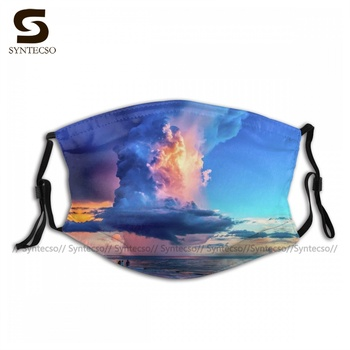 Unisex Cool Explosion In The Summer Skies Facial Mask Adjustable Swag Bike Cloth Face Mouth Mask With Filters