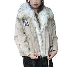 цена Women Warm Real Raccoon Fur Coat Short slim Winter preppy style fur Jacket Fashion Outwear Luxury Natural Fox Fur Coat For girls онлайн в 2017 году