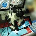Soporte Universal para teléfono móvil microscopio soporte para fotografía teléfono móvil soporte para grabación de vídeo soporte para microscopio