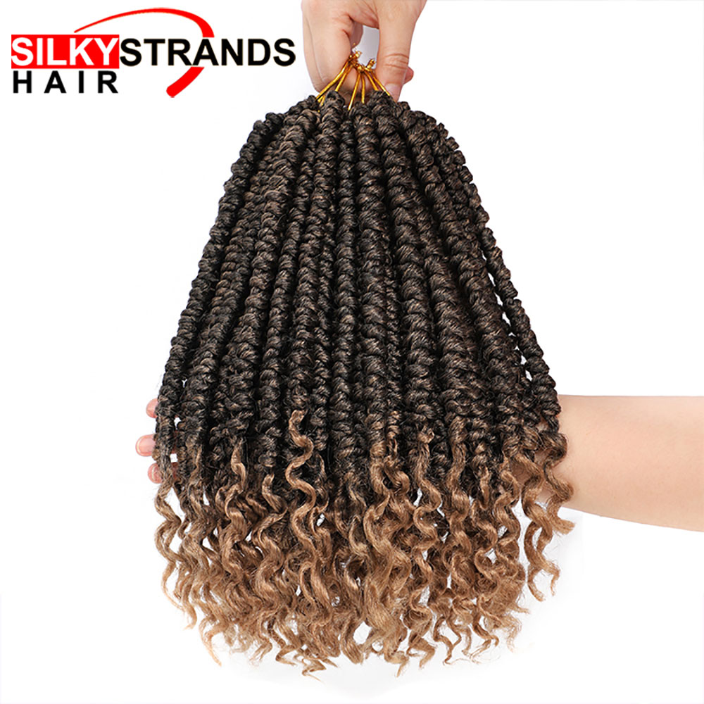 Senegalese Twist Hair Extensions Ombre Synthetic Hair Braiding For Woman Crochet Braid Hair Fluffy 60g/pack