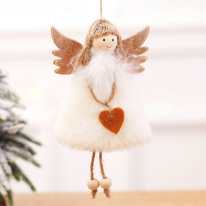Image 5 - 2021 ใหม่ปีของขวัญล่าสุดคริสต์มาสน่ารักตุ๊กตาผ้าไหมAngelตุ๊กตาXmas Treeจี้Noelคริสต์มาสสำหรับตกแต่งบ้าน 2020 deco