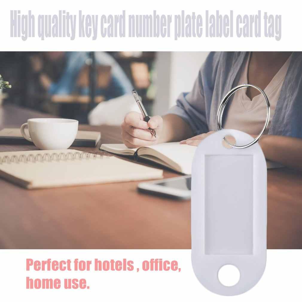 1 adet plastik serin anahtarlık etiketleri anahtarlık kimlik kimlik etiketleri raf İsim kartı etiket