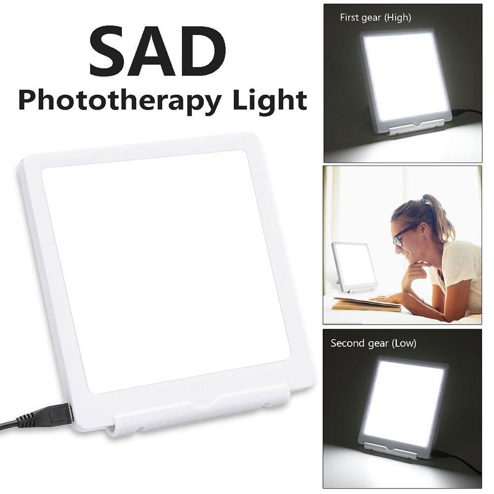 5V лампа для терапии SAD 3 режима Сезонное аффективное расстройство фототерапия 6500K имитирующий естественный дневной светильник USB светильник...