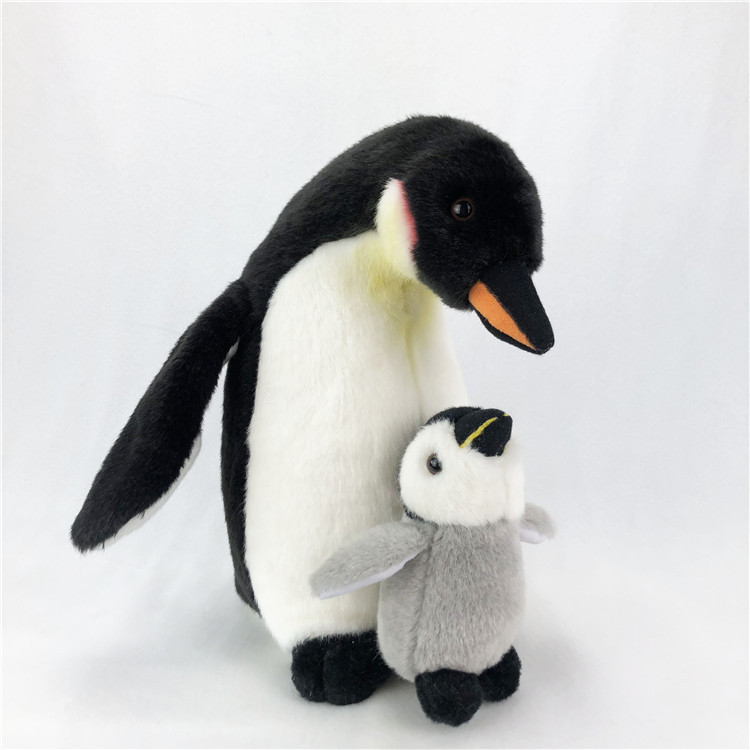 [Funny] Zoo 28cm Simulation Lifelike Mother Penguin and Baby Penguin Plush Toy Soft Stuffed Animals doll Birthday Gifts for kids
