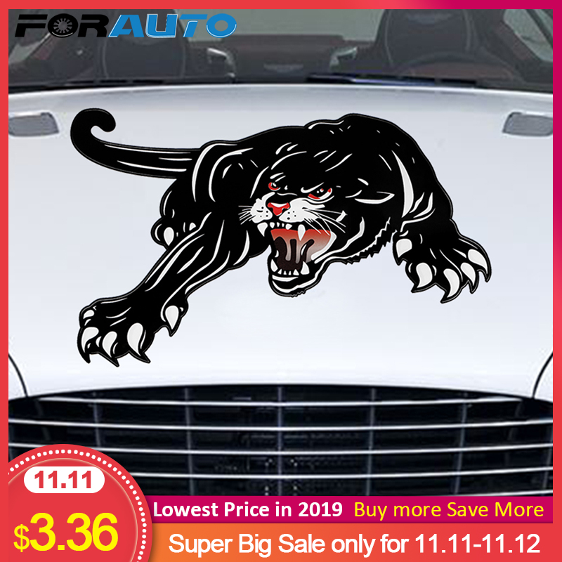 FORAUTO 45*28cm Car Stickers Vinyl Tiger Auto Sticker For Door Creative Decals For Car Hood Decoration Car Styling Accessories-in Car Stickers from Automobiles & Motorcycles