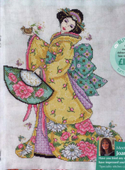 H T Cross stitch set col161-4 figure [<font><b>Japanese</b></font> lady] bedroom precision printing image