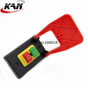 Image 2 - KJD17B 16 4 핀 테이블 톱 전자기 푸시 버튼 스위치 16a ac250v 벤치 드릴/그라인더/선반 용 패들 스위치