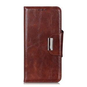 Image 3 - 6 fentes pour cartes portefeuille Flip étui en cuir pour Xiaomi A3 Lite 9 SE 9T Pro Redmi Note 8 Pro 7 7A K20 Pro fermeture magnétique cartes poche