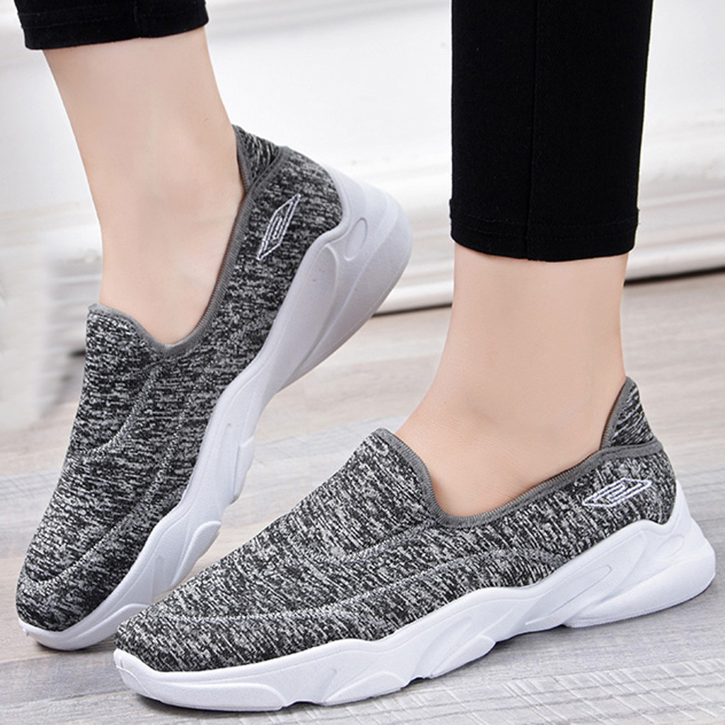 Outdoor Womens Platform Breathable Mesh Sneakers Comfort Nurse Shoes Fashion New