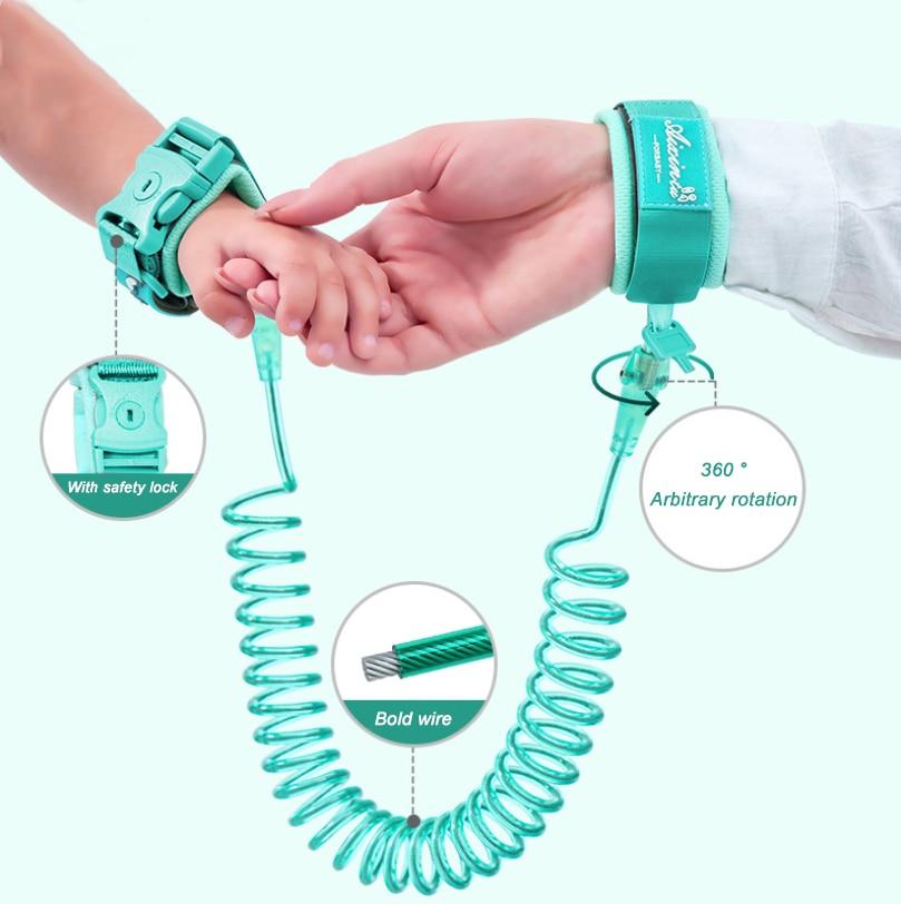 360 Degree Infant Baby Seat Selt Selt Child Anti-lost Wrist Child Safety Wrist Chain Lead Rope 1.5 / 2.5M