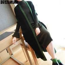 Свитер для беременных зимний свитер Свободный вязаный пальто