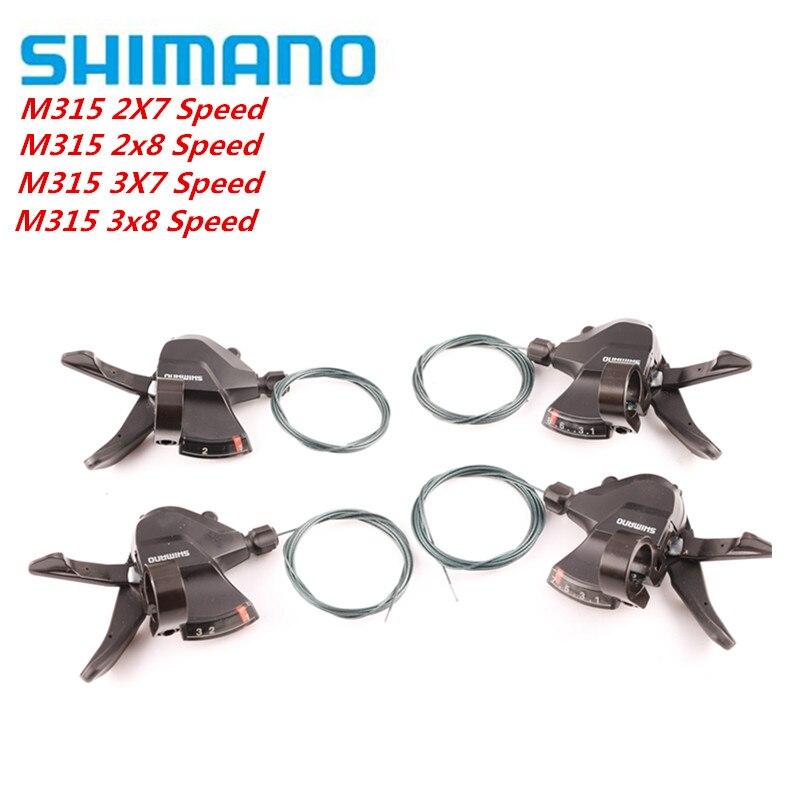 SHIMANO Altus SL-M315 2X7 2X8 3x8 3x7 14 16 21 24 Velocidade conjunto Gatilho Shifter Rapidfire Plus w/Shifter Cabo de Atualização Do M310