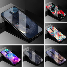 Tempered Glass Case For OPPO Reno2 Z Hard Back Cover For OPPO Reno 2Z 2F Reno 2 F Reno2Z 2 Z Reno2F Phone Cases Silicon bumper cheap MEAFORD Animal Floral cartoon Fitted Case Silicone bumper+PC back cover Dirt-resistant Guangdong China (Mainland) Top Quality +++++