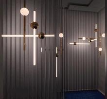 Modern Linear LED Pendant Lighting For Shop Art Decor Pendant Lamp/Hanging light Decoration Bar/ Office Suspension Light Fixture