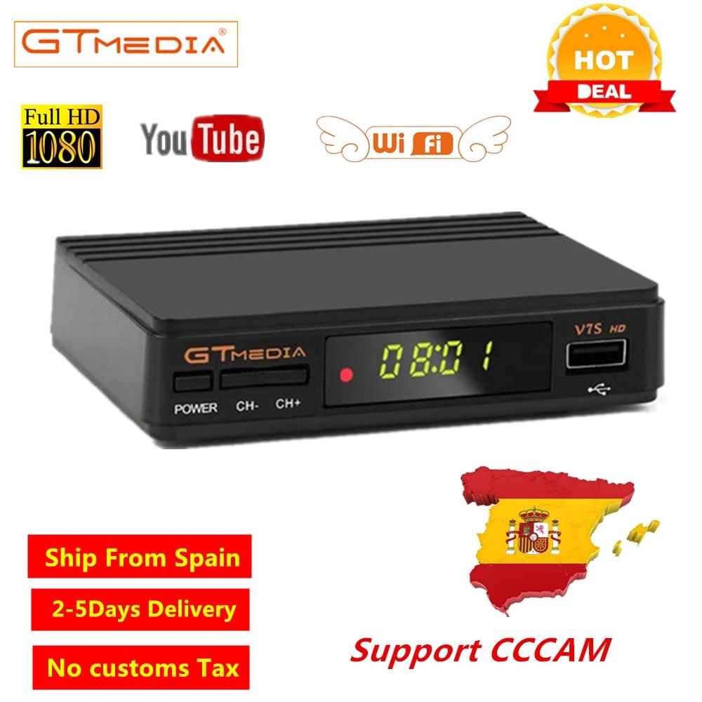 Europe lignes GTmedia V7S DVB-S2 récepteur Satellite TV Tuner décodeur câble récepteur Freesat DVB S2 décodeur prise en charge CCCAM Youtube