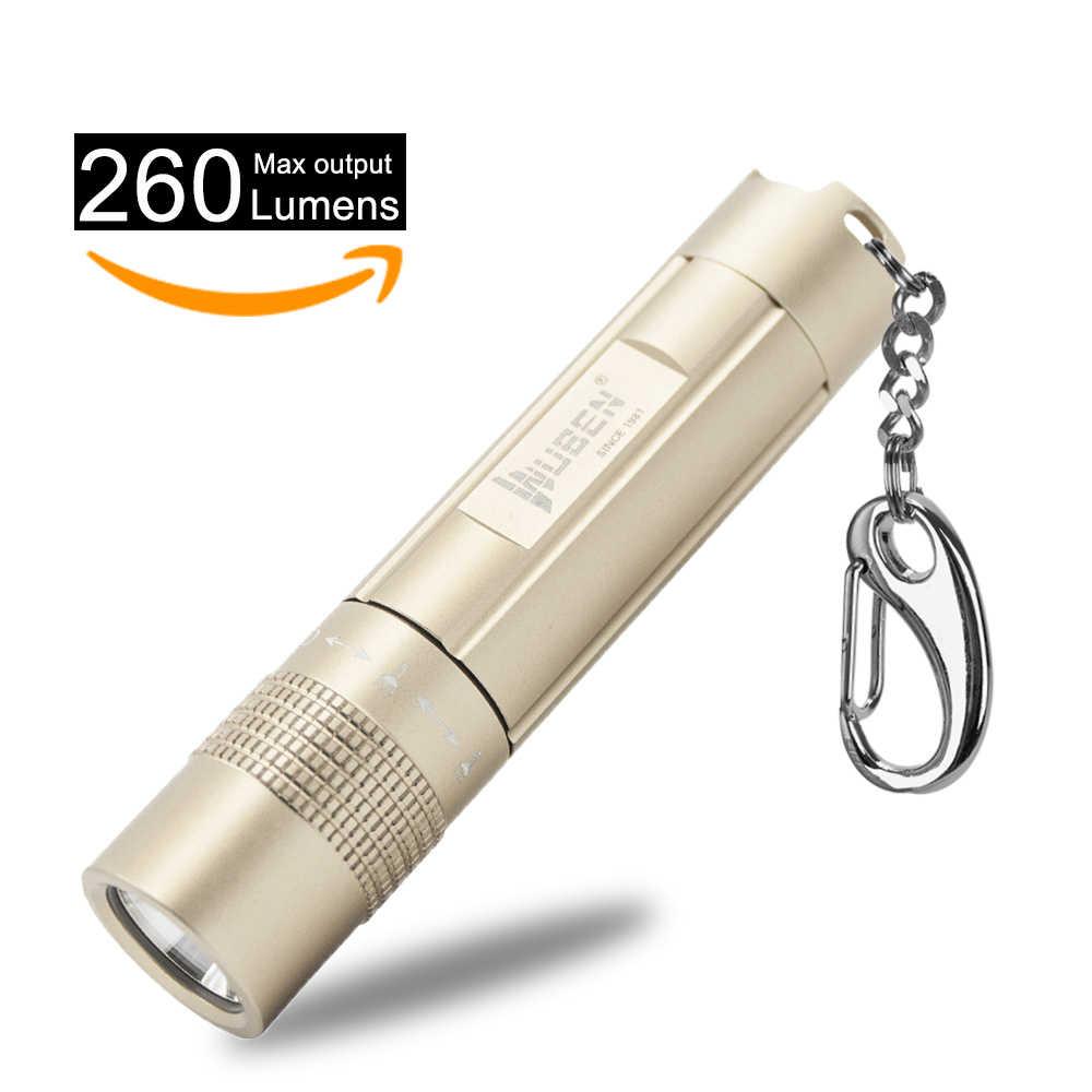 Portable Torch USB Mini Flashlight Rechargeable LED Light Pocket Keychain Wallet