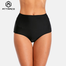 Attraco Swimming Bottom Women Bikini Bottom Hollow-out Swimwear Briefs High Waist Sexy Swimming Trunks body glove women s smoothies contempo high waist bikini bottom