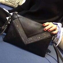 Клатч из натуральной кожи с бриллиантами, вечерние сумки, хрустальные стразы, вечерняя сумочка, дизайнерский брендовый конверт, женская сумка-мессенджер