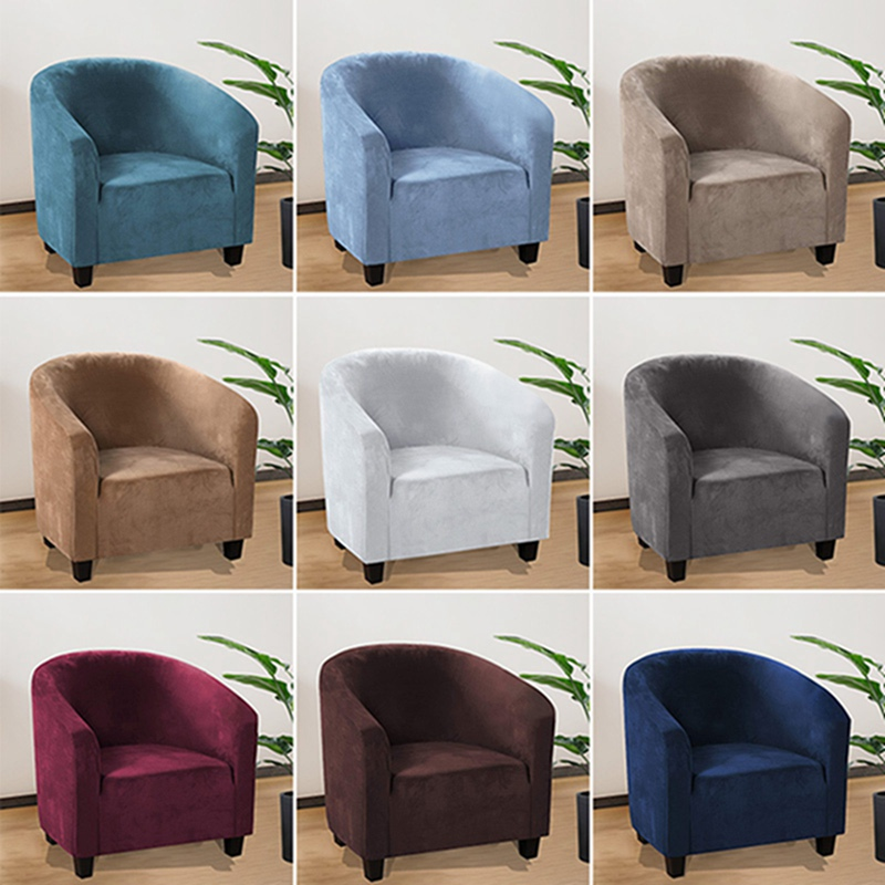 1 Seat Stretch Cover for Armchair Elastic Slip Covers Armchair Sofa Couch Cover Single Sofa Slipcover Seater Furniture Case(China)