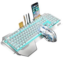 K680 Gaming keyboard and Mouse Wireless keyboard And Mouse Set LED Keyboard And Mouse Kit Combos parasolant wired usb led light keyboard and mouse set white black laptop computer colorful gaming backlit keyboard mouse combos