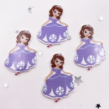 Craft Scrapbook Miniature-Pattern Flat-Back Acrylic-Sheet Applique Home-Decor Princess