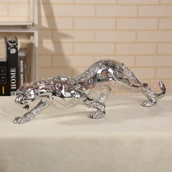 55 CENTIMETRI Ghepardo Scultura Elettrolitico Della Resina Del Leopardo Statua Animale Selvatico Arte e Artigianato Ornamento Presente per la Casa e L'ufficio 1pcs