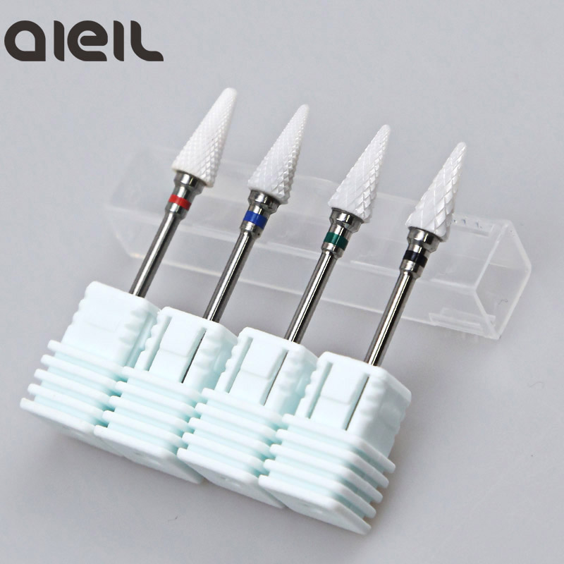 Ceramic Nail Drill Bit Ceramic Cutters For Manicure Machine Electric Cutter For Manicure Milling Cutter For Nail Tool