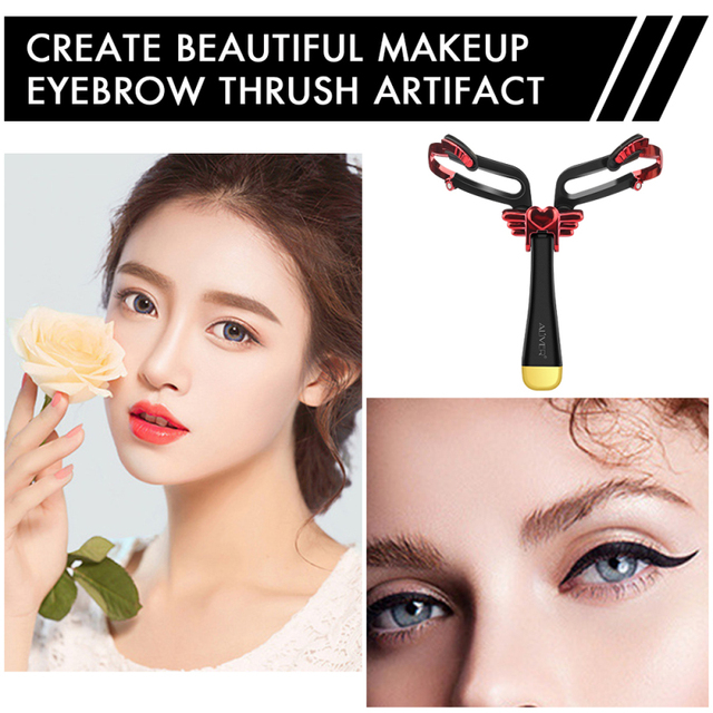 2 Colors Eyebrows Card Reusable Adjustable Eyebrow Stencil Makeup Shaper Eye Brow Makeup Model Template Styling Tools Gift TSLM2 4