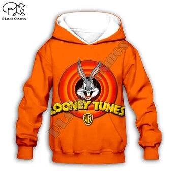 Kids 3D Bugs Bunny print hoodies Sweatshirt children autumn coat baby Looney Tunes boy girl clothing zipper tshirt Pant shorts