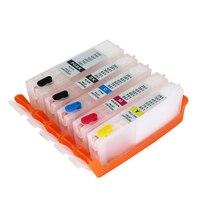 PGI-550 CLI-551 ink Cartridge For CANON MG5450 MG5550 MG6450 ip7250 MX925 MX725 IX6850 PGI550 CLI551 5 PCS Refillable Ink cartr