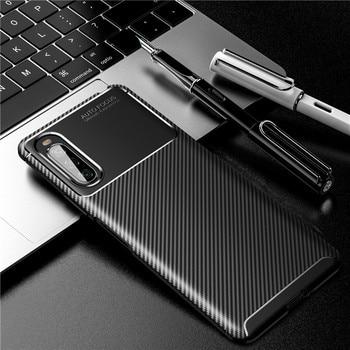 For Sony Xperia 10 II XA2 Plus XA3 XZ2 XZ3 XZ4 Case Bumper Silicone Carbon Fiber Phone Case For Sony 1 5 8 10 20 Cover Shell Bag