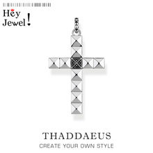 Pendant Abstract Style Rivets Cross,2020 Brand Iconic Fashion Jewelry Thomas Bijoux 925 Sterling Silver Gift For Ts Woman Men(China)