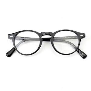 Image 4 - גרגורי פק OV5186 בציר משקפיים נשים ברור מסגרת גברים עגול אופטית מרשם עדשה עגול משקפיים